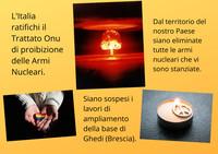 L'Italia ratifichi il Trattato sulla Proibizione delle Armi Nucleari