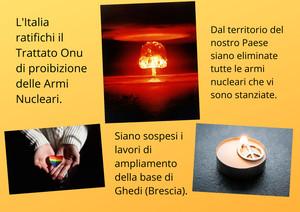Le richieste del movimento per la pace per il disarmo nucleare in Italia