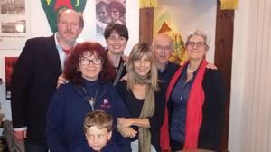 Con Nicoletta Dosio, Vittorio Agnoletto, Claudia e Silvia Pinelli