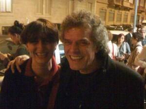 Con l'attore Alberto Patrucco