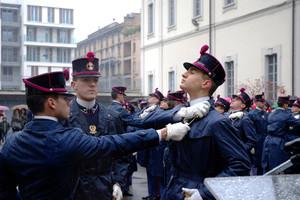Consegna dello spadino ai cadetti