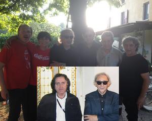 Con Renato Franchi, Gianfranco D'Adda e... Franco Battiato