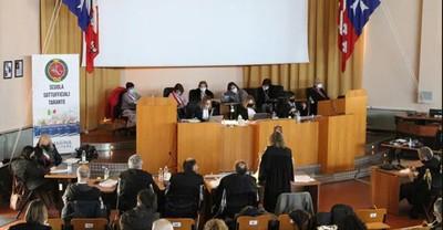 Processo Ilva contro Riva e altri in Corte d'Assise a Taranto. L'aula in cui verrà pronunciata la sentenza