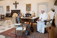 Chiara Castellani e papa Francesco