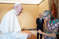Papa Francesco e Chiara Castellani