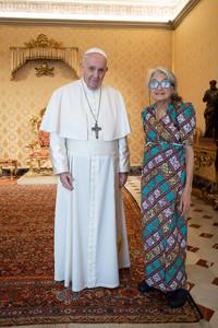 Papa Francesco con Chiara Castellani