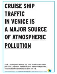messaggi murali ideati da WahV per sensibilizzare la popolazione e i turisti sui problemi ambientali e sociali legati alla crocieristica