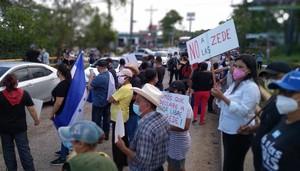 Protesta contro le ZEDE (Foto Sua Martínez)