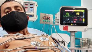 Cándido Amador in ospedale (Foto Sinatraa)