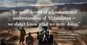 """Le parole del generale Douglas Lute: """"""""Eravamo privi di una comprensione fondamentale dell'Afghanistan, non sapevamo quello che stavamo facendo""""."""