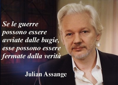 """Julian Assange: """"If wars can be started by lies, they can be stopped by truth."""""""