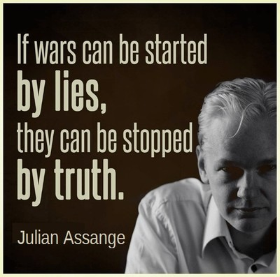 If wars can be started by lies, they can be stopped by truth.