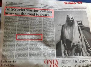 """Bin Laden appoggiato dagli USA quando era un """"combattente per la libertà"""""""