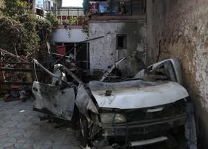 L'auto colpita da un drone USA il 29 agosto 2021 a Kabul uccidendo dei civili innocenti