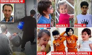 Le vittime dell'attacco a Kabul con il drone USA