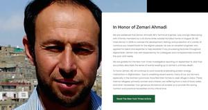 """""""In Honor of Zemari Ahmadi"""", dal sito della sua ONG"""