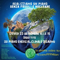 PreCop Milano: un piano senza fossili e nucleare