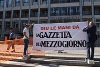 Editoria: flash mob giornalisti Gazzetta del Mezzogiorno
