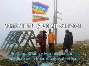 La Pace sventola dal monte Miletto