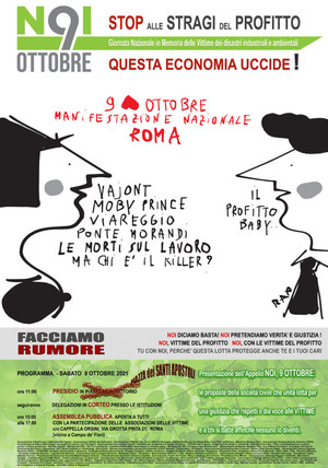 Locandina 9 ottobre 2021 a Roma