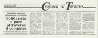 Il 23 ottobre 1991 appariva su un giornale la prima notizia della nascita di PeaceLink