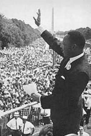 Martin Luther King parla alla folla