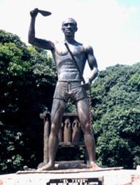 Statua rappresentante Gaspar Yanga