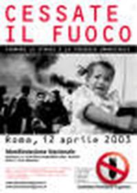 Locandina della manifestazione del 12 aprile 2003