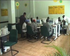 Un Internet Cafè in Mozambico