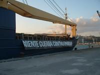 La nave CAP Anamur a porto Empedocle (Agrigento)