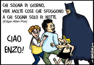 Ciao Enzo! Ti ricordiamo con i personaggi che amavi!