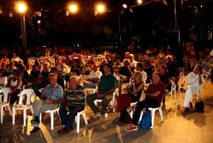 Uno scorcio del pubblico alla sera dell'incontro