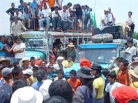 la marcia indigena colombiana
