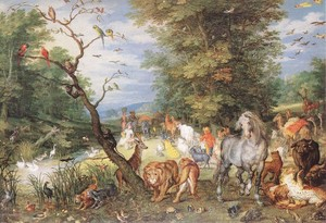 The Animals Entering the Ark 1615 Oil on copper, 25,5 x 37 cm Wellington Museum, London