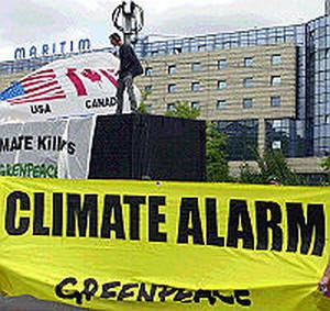 Manifestazione di Greenpeace in favore di Kyoto