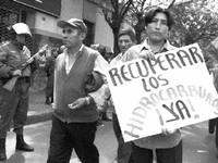 Gli sfruttati boliviani chiedono che gli idrocarburi vengano sottratti alle multinazionali nordamericane ed europee