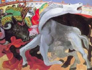 """Picasso """" La morte di un torero"""""""