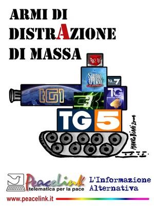 Adesivo promozionale di PeaceLink: armi di distrAzione di massa