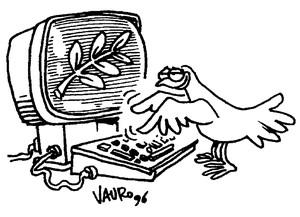 La colomba disegnata da Vauro per PeaceLink