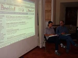 I due Marescotti, figlio e padre, alla presentazione del PhPeace.