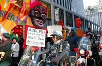 New York, 2002 - Manifestazione contro il WTO