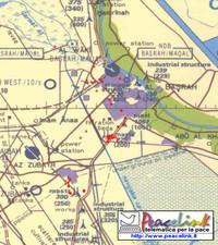 Mappa dei bombardamenti inglesi a Bassora