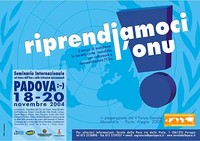 Padova, 18-20 novembre - Riprendiamoci l'Onu