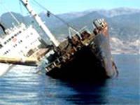Una nave rosso veleno