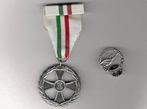 La medaglia e la spilla della Missione Airone