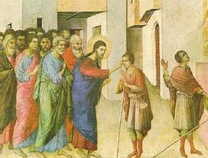 Gesù guarisce il cieco - Duccio di Buoninsegna