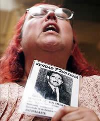 familiare di una vittima di Pinochet