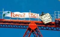 Manifestazione contro il Ponte sullo stretto di Messina