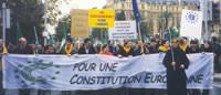 Manifestazione per una costituzione federale europea - Nizza, 7 dicembre 2000