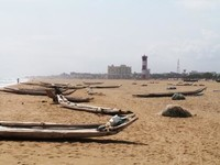 la grande spiaggia di Chennai